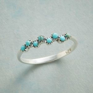 Sterling Silver Turquoise Bubble Ring Boho